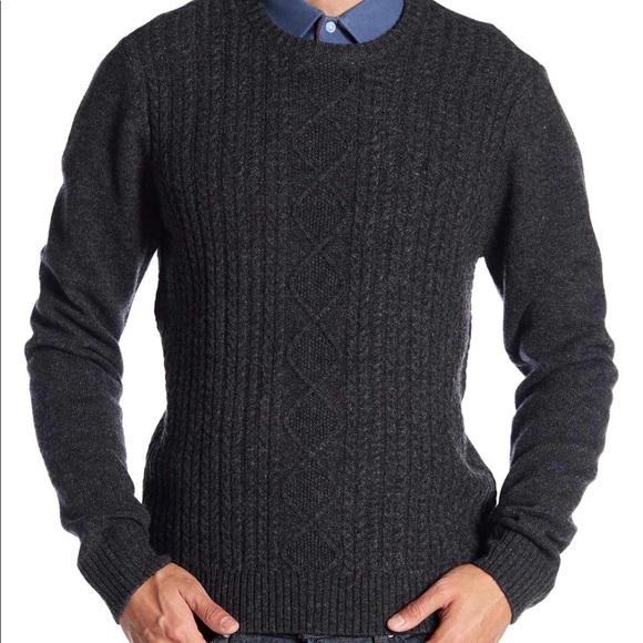 Original Penguin Mens Long Sleeve Knitted Fairisle Shirt
